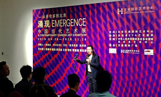策展人、汉威国际艺术中心馆长张思永 发言