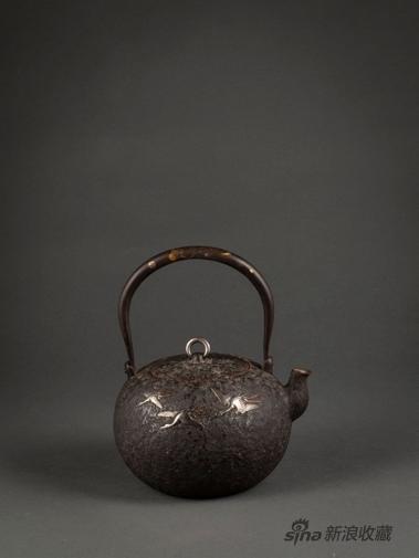 《圆文锉金银提把 铁壶》,铁,来自雪盦