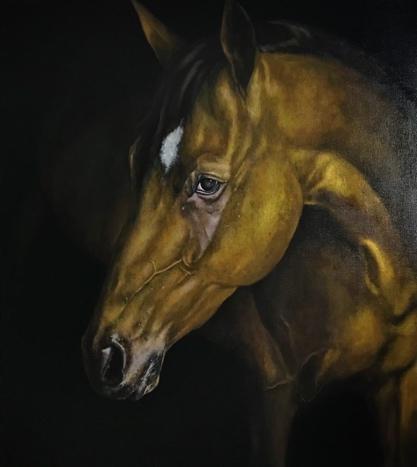 《马肖像02》布面油画,80 x 90 cm,2017