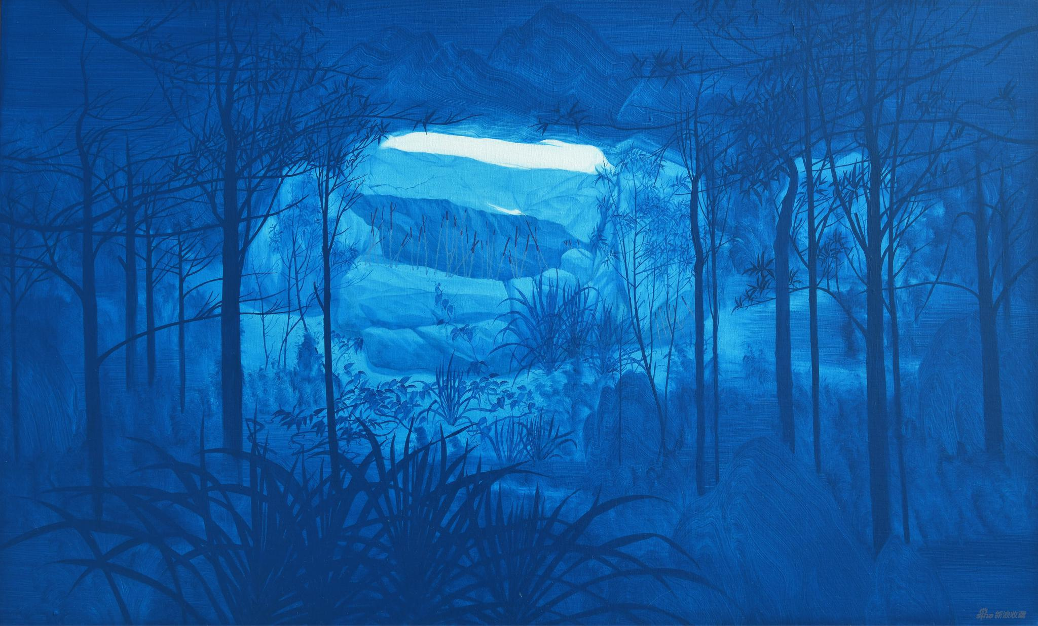 易国栋《支山图 No.2》60x100cm,布面油画,2020
