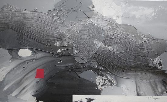 趙渭凉作品 阴阳  综合材料 200x120cm 2015