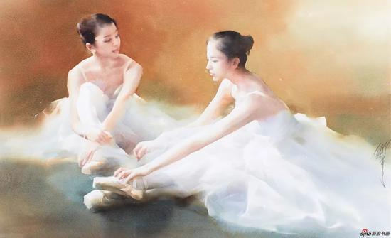 柳毅 回韵 66×100cm 水彩画