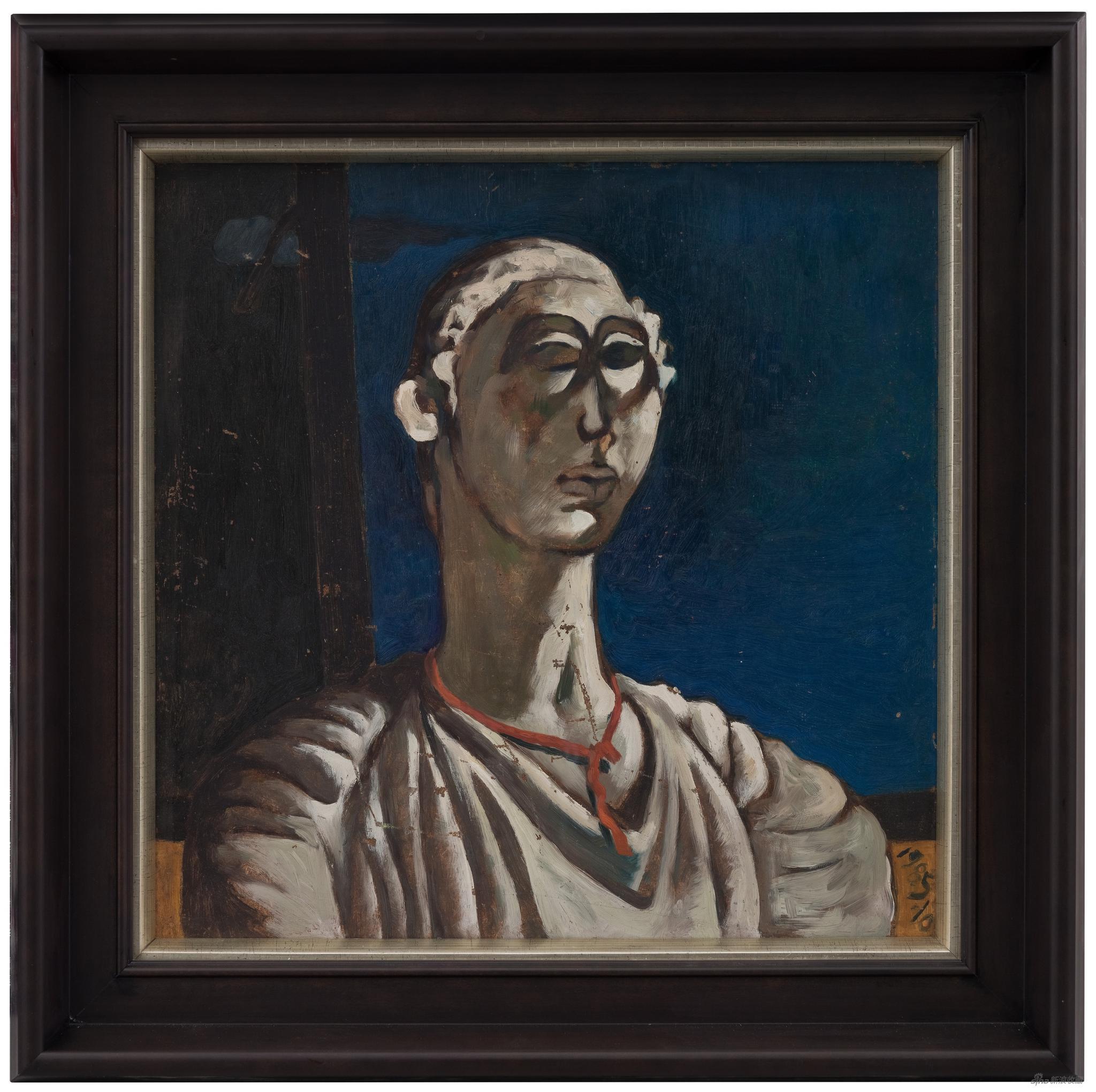 《无题》,布面丙烯,50 x 50 cm,1985