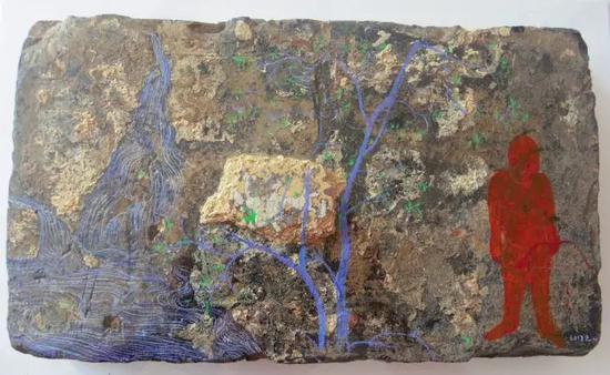 陈清勇 《制造姿态》-5 2017 油画 30X40cm