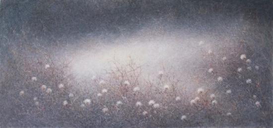 王胜,《静阔幽邃-03》,布面油彩,60×127cm,2017? An Art Space