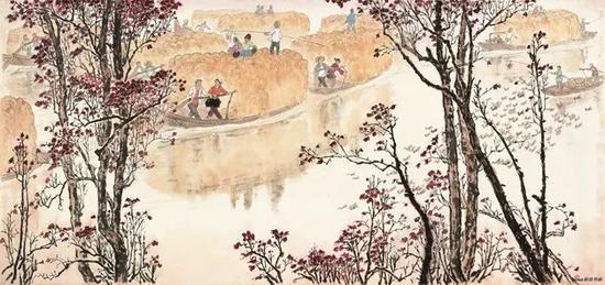 徐孅,人物,20世纪70年代,63×133.5cm,纸本水墨设色,中国画