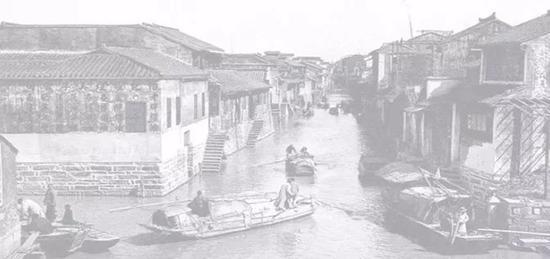 苏州广济桥东水巷摄于1930年代