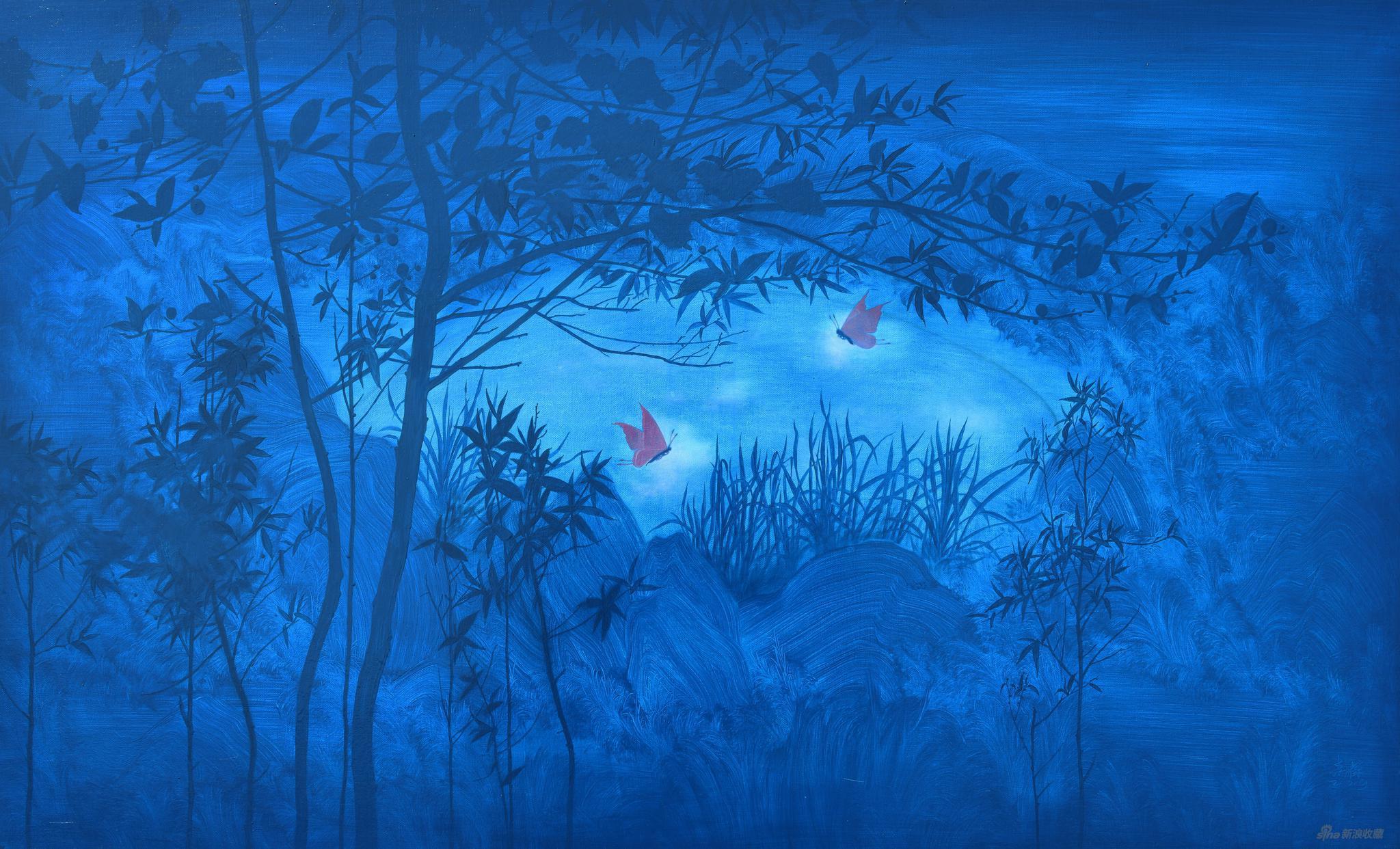 易国栋《生生不息—— 梁祝No.36》60x100cm,布面油画,2019
