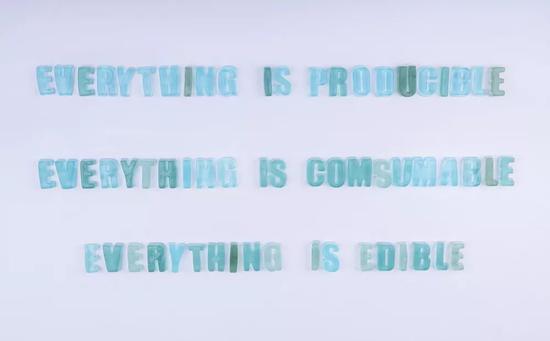 《一切皆可生产、一切皆可消费、一切皆可食用》 果冻、色素 2015