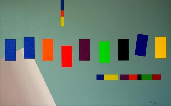 凌惠华《浑 系列之三》160×100cm 布面油画 2012年