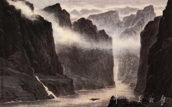 雨后夔门,伍必端,1992