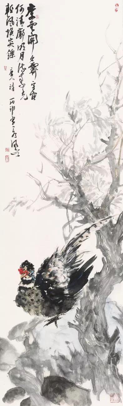 余风谷 溪谷锦绣 160x45cm 纸本水墨 2016