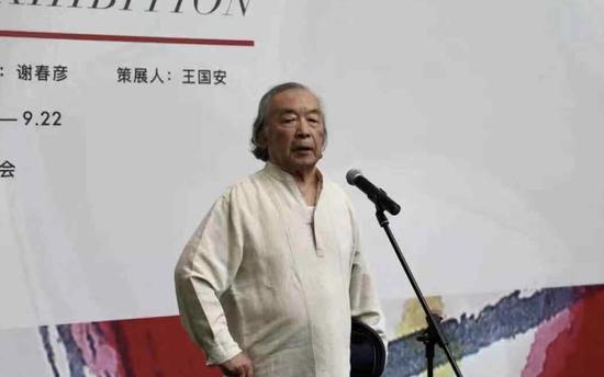 此次展览学术主持、艺术家谢春彦开幕式致辞