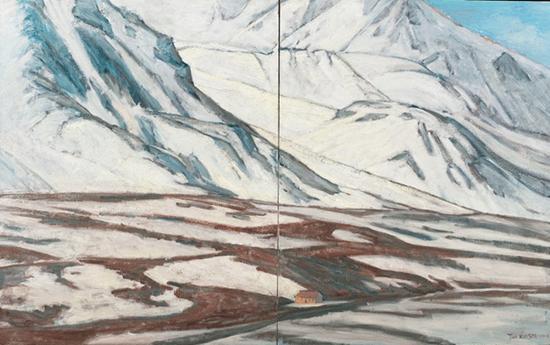 帕米尔高原雪山100x162cm 2008