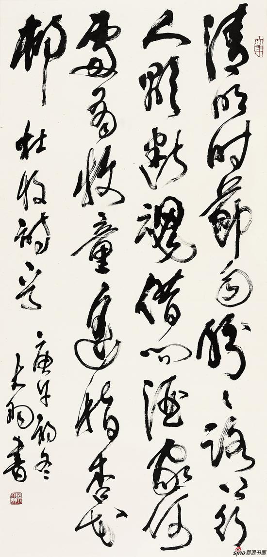 陈大羽-杜牧诗-138cm-67cm