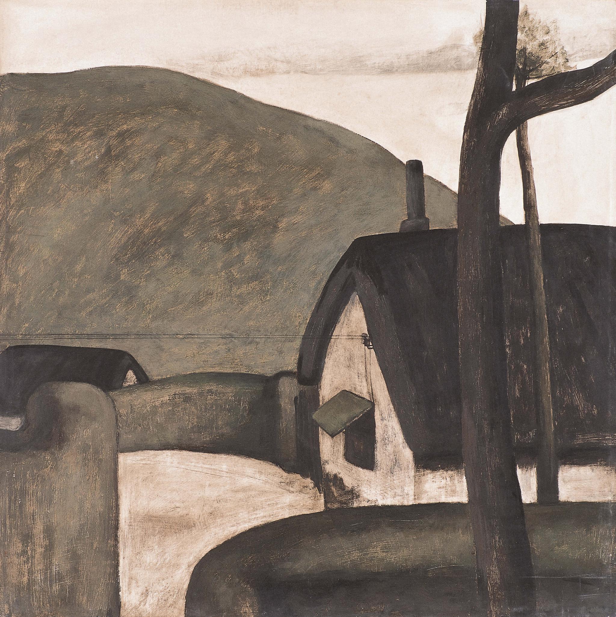 《晨》,板上丙烯,50 × 50 cm,1984