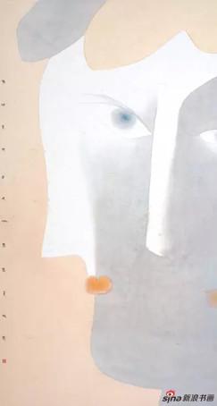 卢甫圣《适其适》,水墨设色,252×125cm,2014年