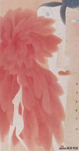 卢甫圣 《东方图像志》 设色 纸本 180 x 96 cm 2014年作