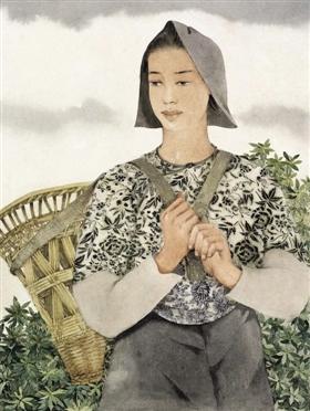 庞薰琹《背篓》,中国美术馆藏