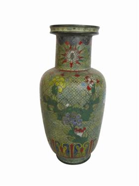 清晚期铜胎掐丝珐琅棒槌瓶