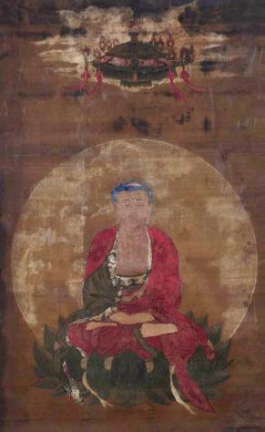 佚名 阿弥陀佛源流图   绢本 镜心   120×74cm