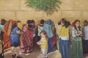 金色的耶路撒冷:林红油画作品展亮相美门艺术馆
