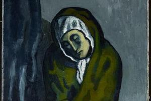 毕加索《蜷坐的乞丐》作假?在别人作品上涂改