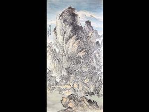 国家一级美术师张耀明《溪山》0元起拍