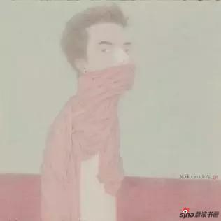 徐旭峰 戏子系列NO.49 清江引 (画心)48×47cm(立轴)148×48cm 绢本设色