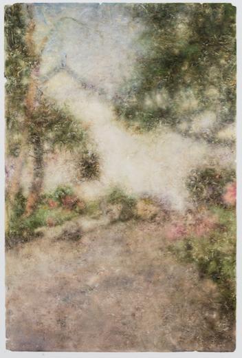 景物?园林卷 1627 布面油画 138×78cm 2016 肖芳凯
