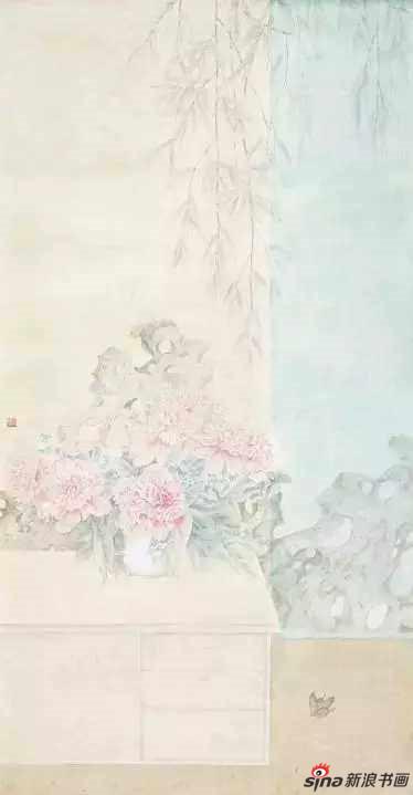 《蝶恋花》136×68cm