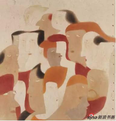 卢甫圣《天下熙熙》,水墨设色,190×178cm,2013年