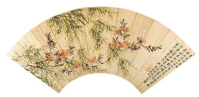 图二:清 王武 《春柳桃花图》