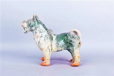 东汉绿釉陶狗