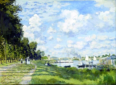 阿让特伊的塞纳河河湾(油画) 克劳德·莫奈