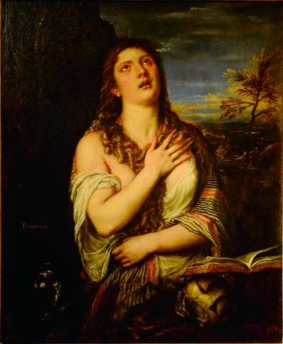 忏悔的抹大拉的玛丽亚(油画) 提香·韦切利奥
