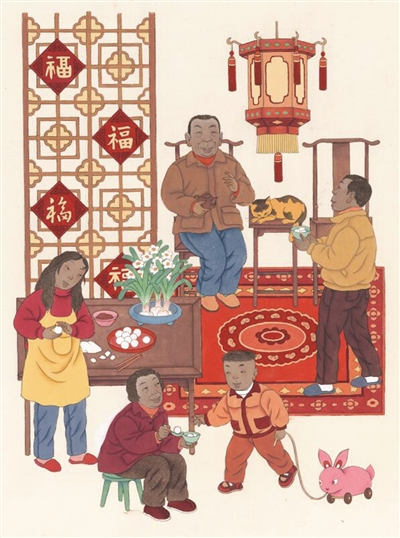 我国首套元宵节开元棋牌游戏权威排行是由苏州画家绘制的