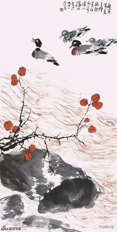 孙其峰 | 秋江图 138cm×68cm