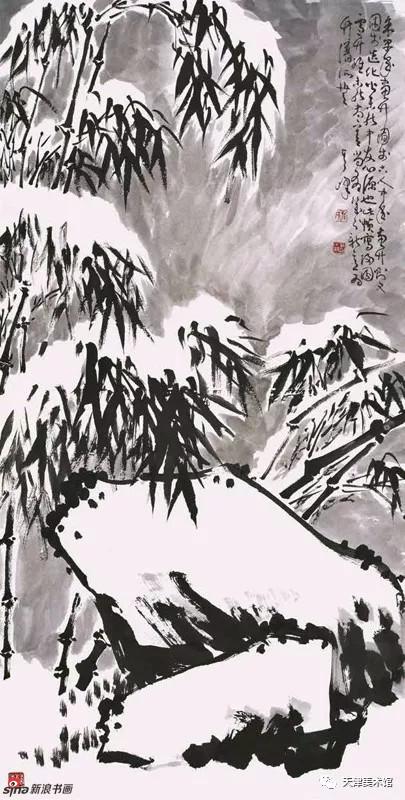 孙其峰 | 雪竹 138cm×68cm