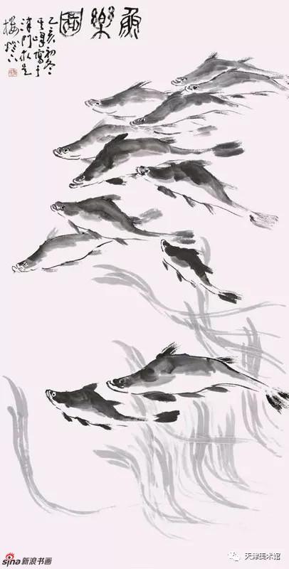 孙其峰 | 鱼乐图 138cm×68cm