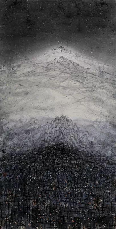 【家园】 142x73cm 彩墨宣纸 2013