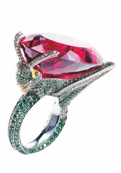 石榴石动物系列戒指,有趣奢华。