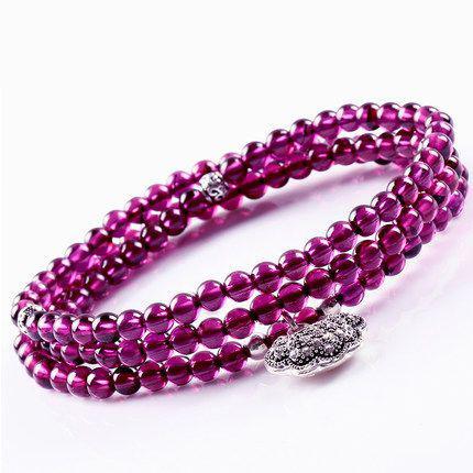 紫牙乌手链,很有质感。