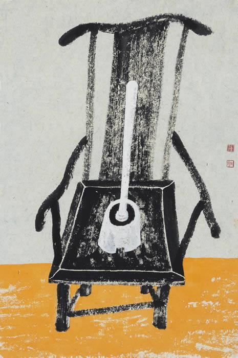 望No.9 钟小明 纸本设色 69X47cm 2016