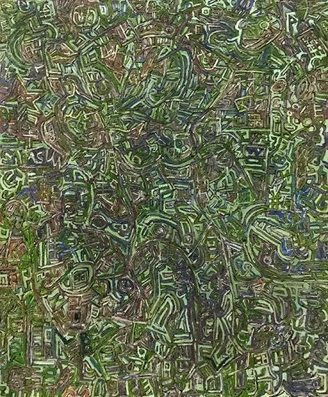 伊灵作品 新女性 100X120cm 布上油画 2002