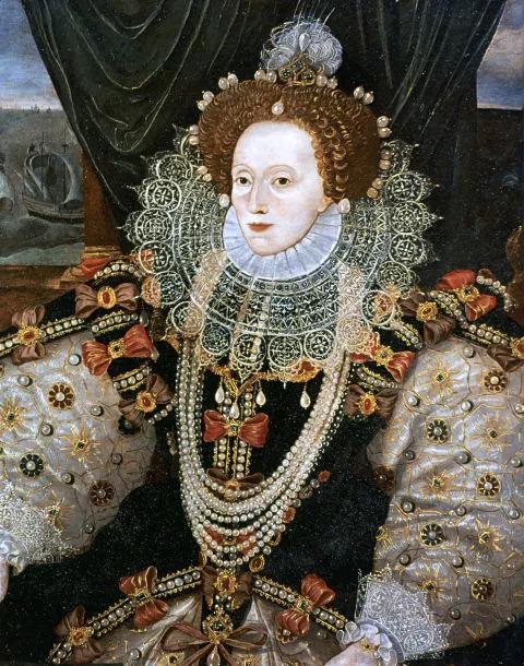 伊丽莎白一世画像,佩戴汉诺威珍珠
