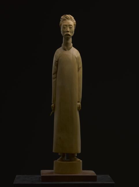 2016年《鲁迅》51x10x6.5 黄杨木 (2)