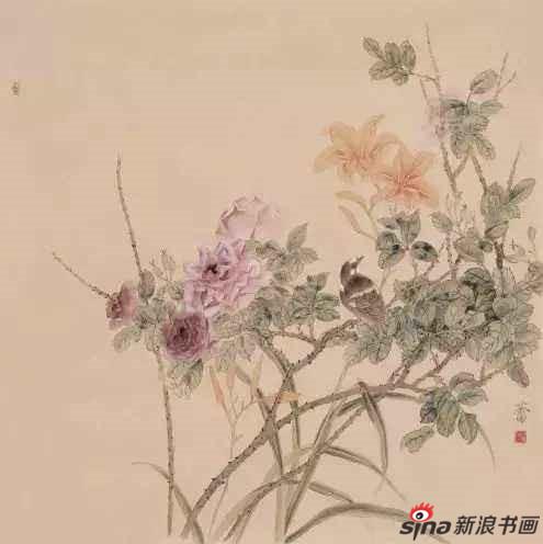 《小园东风》69×69cm