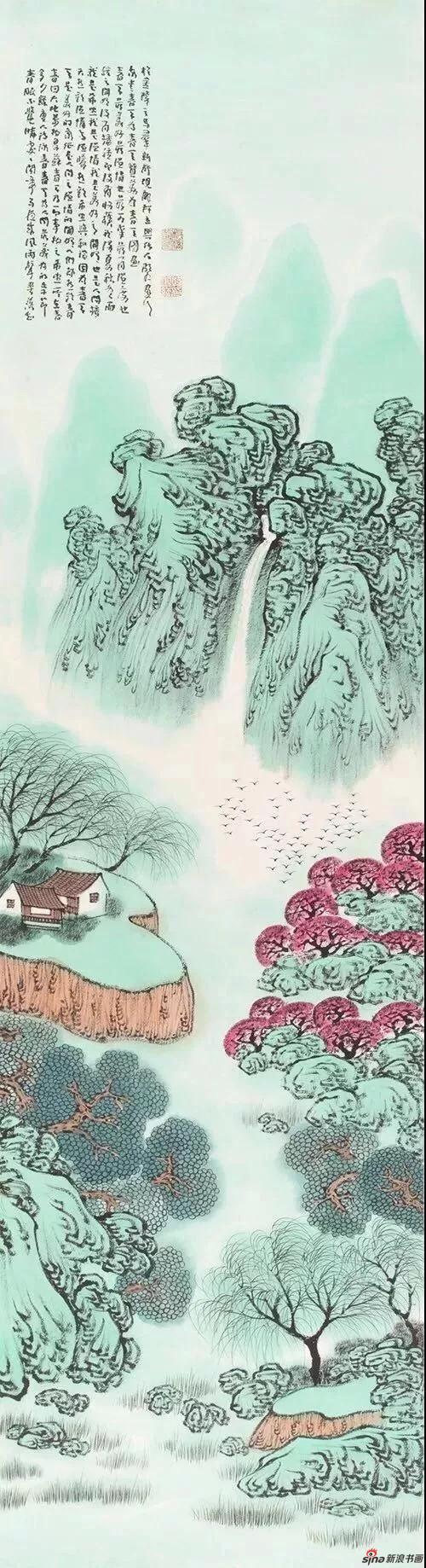 韩显红山水画作品欣赏