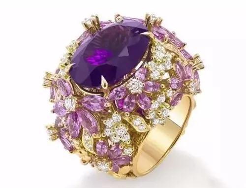 Ganjam Le Jardin紫水晶戒指